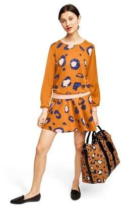 3.1 Phillip Lim for Target Women's Leopard Print Long Sleeve Crewneck Pullover Sweater for Target Orange