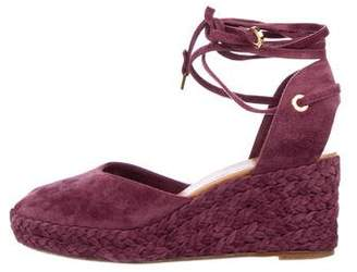 Loro Piana Suede Lace-Up Wedges