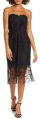 Harlyn Strapless Fringe Cocktail Dress