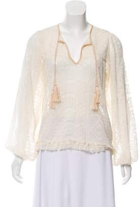 MISA Los Angeles Lace Peasant Blouse w/ Tags