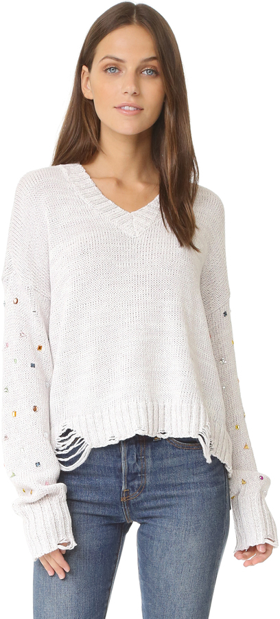 Wildfox Sparkle Shapes Sweater