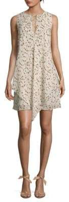Derek Lam 10 Crosby Floral Lace-Up Sleeveless Dress