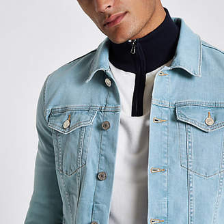 River Island Light blue wash muscle fit denim jacket