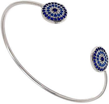Fashionvictime Armbänder Armband Damen - Rhodium Überzogen Modeschmuck - Türkis