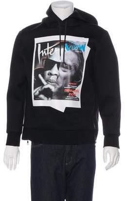 Neil Barrett Jay De Nero Neoprene Zip-Accented Sweater
