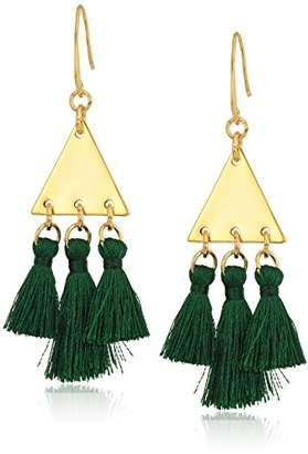Rebecca Minkoff Tri Tassel Chandeliers Drop Earrings