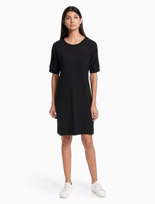 Calvin Klein crewneck pocket short sleeve shirtdress