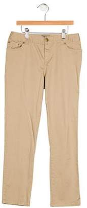 Polo Ralph Lauren Girls' Mid-Rise Straight-Leg Pants