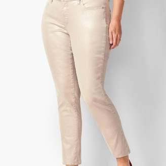 Talbots Silver Foil Slim Ankle Jeans