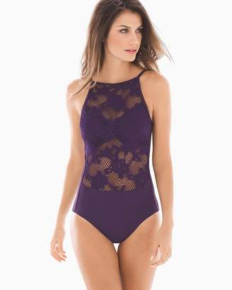 Miraclesuit Amoressa By High Neck Cristobel One Piece Swimsuit