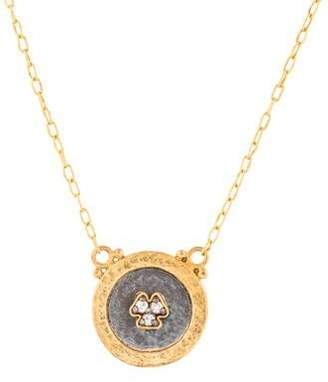 Gurhan 24K Diamond Disc Pendant Necklace