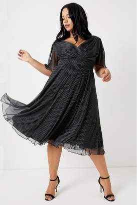 Scarlett & Jo Womens Scarlette & Jo Curve Baby Lollidot Angel Dress - Black