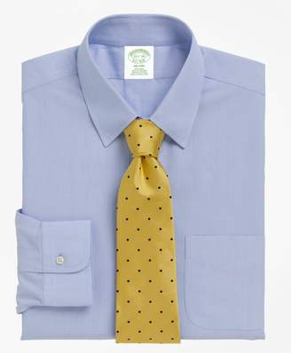 Brooks Brothers Milano Slim-Fit Dress Shirt, Non-Iron Tab Collar