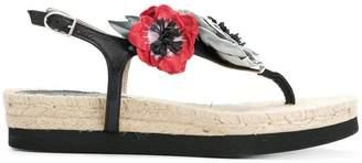 Sonia Rykiel floral appliqué espadrille sandals