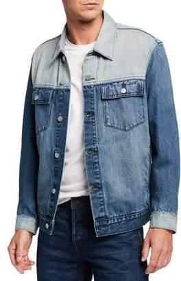 Wesc Men's Colorblocked Jean Jacket