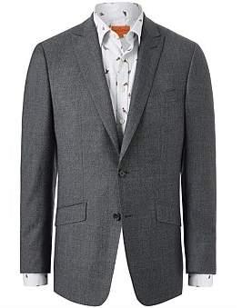 Simon Carter Wool Diamond Texture Suit Jacket