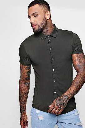 boohoo Short Sleeve Jersey Shirt