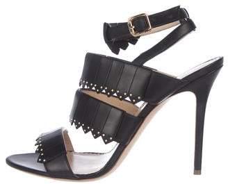 Aperlaï Leather Strap Sandals