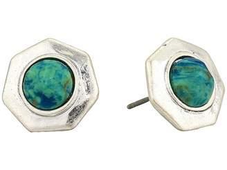 The Sak Geo Stone Stud Earrings