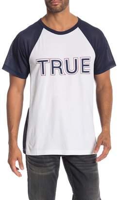 True Religion Short Sleeve Contrast Raglan Inset Tee
