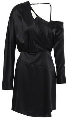 Mason by Michelle Mason Asymmetric Wrap-effect Silk-satin Mini Dress