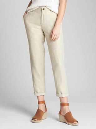 Gap Metallic Girlfriend Chinos in Linen-Cotton