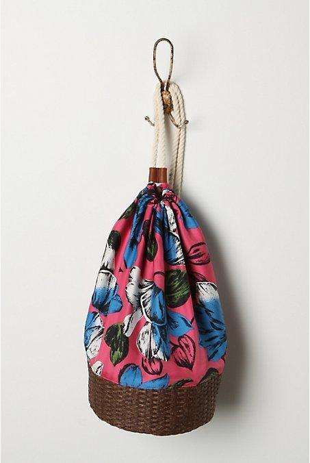 Tropical Basket Bag