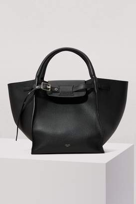 CLine Small Big Bag with long strap in supple grained calfskin