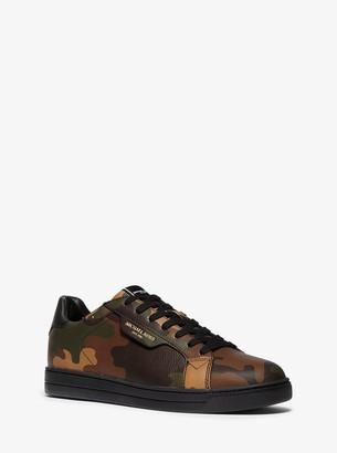 Michael Kors Keating Camouflage Leather Sneaker