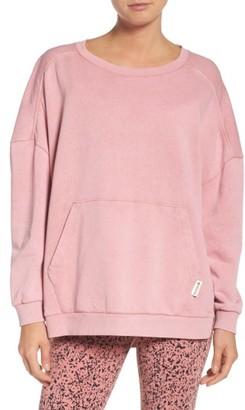 Women's Reebok Favorite Oversize Crew Sweatshirt $55 thestylecure.com