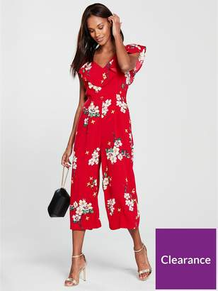 Warehouse Blossom Print Jumpsuit