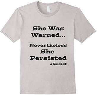 She Was Warned Nevertheless She Persisted Womens March Shirt
