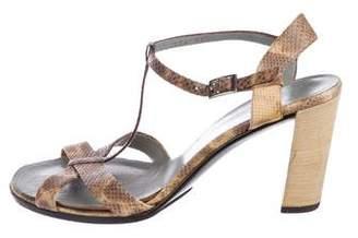 Gucci Lizard Ankle-Strap Sandals