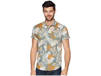 Scotch & Soda All Over Printed Cotton Voile Shirt Men's Clothing