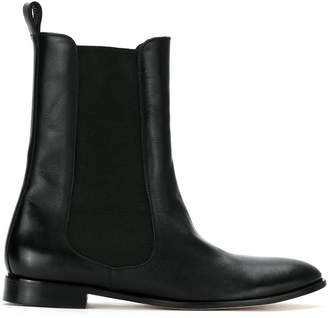 Sarah Chofakian leather chelsea boots