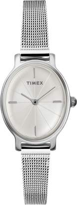 Timex R) Milano Oval Mesh Strap Watch, 24mm