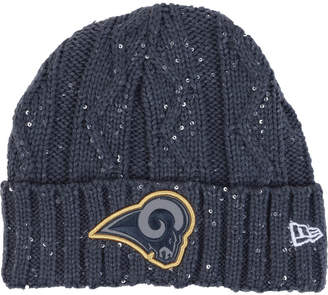 New Era Women's Los Angeles Rams Frosted Cable Knit Hat