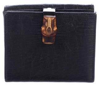 Gucci GG Canvas Bamboo Compact Wallet