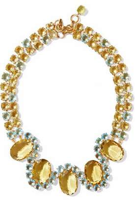 Bounkit Gold-Tone Crystal Necklace