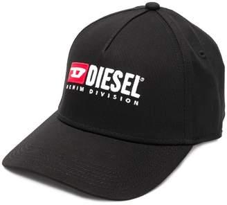 Diesel embroidered logo baseball cap