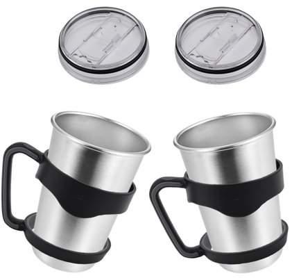 LESHP 2Pcs Lid & 2Pcs Handle Suitable for YETI Rambler 30OZ Thermal Mug Light Weight