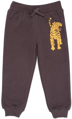 Mini Rodini Tiger Cotton Fleece Jogging Pants