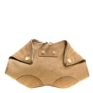 Alexander McQueen Manta Brown Suede Clutch Bag