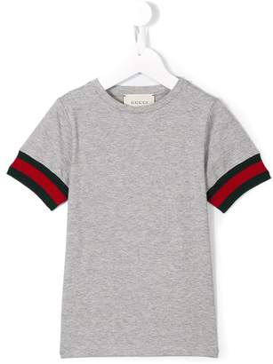 Gucci Kids Web cuff T-shirt