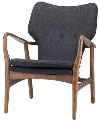 Nuevo Living Patrik Occasional Chair, Medium Gray Tweed