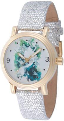 DISNEY PRINCESS Disney Princess Disney Princess Womens Silver Tone Strap Watch-Wds000177