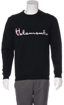 Vetements x Champion 2016 Logo Sweatshirt