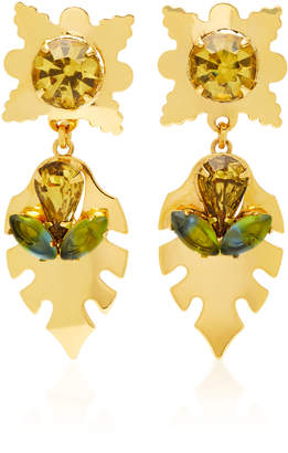 Nicole Romano Covell 18K Gold-Plated Leaf Earrings