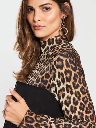 Very Leopard Print Jersey Dress - Printed