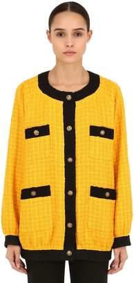 Gucci Oversized Cotton Blend Tweed Jacket